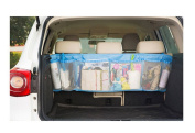 BXT High Quality Car Cargo Tidy Backseat Boot Hanging Mesh Storage Bag Multiuse Net Organiser Pouch Holder Tools/Drink/Umbrella/Maps/CD