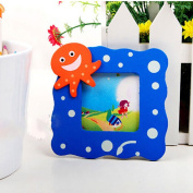 Gogogo 5X Baby Kids Family Photo Picture Frame Wooden for Home Room Office Table Top Random Cartoon Pattern