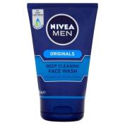 Nivea Men Originals Deep Cleaning Face Wash (100ml) - Pack of 2