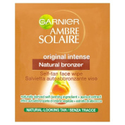 Garnier Ambre Solaire Original Natural Bronzer Self-Tan Face Wipes (2) - Pack of 2
