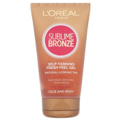 L'Oréal Paris Sublime Bronze Self-Tanning Gel for Face and Body - Medium (150ml) - Pack of 2