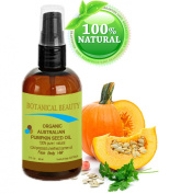 "ORGANIC PUMPKIN SEED OIL Australian. 100% Pure / Natural / Undiluted /Unrefined Cold Pressed Carrier Oil. 2 Fl.oz.- 60 ml. For Skin, Hair, Lip And Nail Care. ""One Of The Richest Sources Of Enzymes, Fatty Acids, Iron, Zinc, Vitamins A, C, E And K"". Bota .."