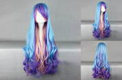Ladieshair Lolita Cosplay Wig 80 cm Blue