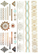 Gold Silver Metallic Temporary Tattoos, Flash Tattoo, Rings, bracelets, great skin jewelery - YS-82
