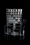 GLAMOURLIVING® spinning acrylic lipstick/powder tower holder storage stand makeup
