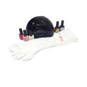 Miss Pouty Starter Nail Kit- Includes LED Nail Lamp, UV Proctive Nail Gloves, 5 x 10ml Bluesky Nail Gels