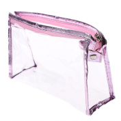 A-szcxtop PVC Transparent Waterproof Toiletry Bag Cosmetic Bag for Travel/Airport Approved