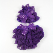 Tulle Bow Lace Hat and Nappy Cover Set