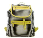 New Womens Canvas Stripe Travel Rucksack Girls Ladies Backpack School College