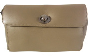 LUGANO Josybag-Gold Sand Case Leather Clutch Bag Clutch Bag