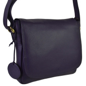 Ladies LEATHER Cross Body Bag by Hansson; Nordic Blue Collection Handbag