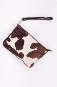Gentian Trachtentasche Real Cowhide Leather Clutch bag, Oktoberfest, Wiesentascherl