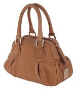 Gian Franco Ferre Women's Handbag X186 Genuine Leather Light Brown