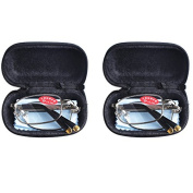 2 PRS Southern Seas Mens Womens Folding Reading Travel +6.00 Glasses w Case 11 Strengths Available