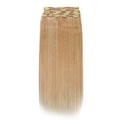 SUNMAY 100% Real Human Hair Full Head Clip in Remy Hair Extensions
