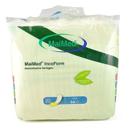 IncoForm Incontinence Pads Pack of 20 Super-Yellow / 35 x 70 cm