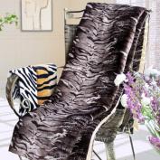 Blancho Bedding - [Animal Tiger Brown] Micro Mink Throw Blanket 430ml filling