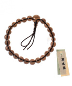 Kyoto Made-8mm Smokey Quartz Beads Tibetan Buddhist Mala Bracelet, Japanese Udenenju