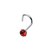 Helix Punk Jewellery Gemstone Nose Piercing 316L Surgical Steel Colour - Red