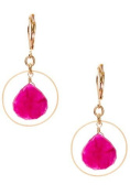 David Aubrey - Ring Earrings & Chalcedony in Berry Red