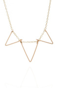 by Philippe Necklace large Triangles gold