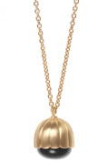 Arena Copenhagen Bailee Gold Black Onyx 925 Silver 18 ct Gold Plated-Length