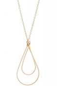 Philippe Nach - Gold Large Teardrop Necklace