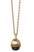 ARENA Copenhagen - Beate Gold Chain Black Onyx - 925 Sterling Silver/Gold-Plated 18 Carats - Length Approx 45 cm - 166GN01
