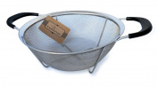 Culina Stainless Steel Basket Strainer with Handles - 23cm