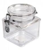 860ml Plastic Square Asirtight Clip Top Vintage Spice Chutney Storage Jar Pot by Chabrias Ltd