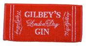 GILBEYS LONDON DRY GIN British Pub Bar Towel