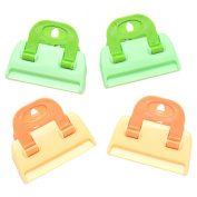 EJY 4pcs Plastic Food Sealed Clips Storage Seal Bag Clip Clamp Kitchen Tools