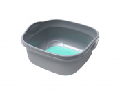 ADDIS Soft Touch Washing Up Bowl, Silver/ Aqua