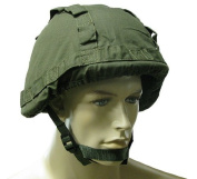 BE-X Helmet cover for PASGT helmets and BW combat helmets etc., with loops - OD green