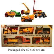 A to Z Toy Construction Vehicle 6pc Set
