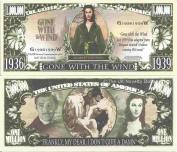 Novelty Dollar Gone With The Wind Scarlett O'Hara Million Dollar Bills x 4 1939 Film Movie