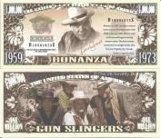 Novelty Dollar Bonanza Television Western Series Million Dollar Bills x 4 Cartwright Family