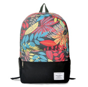 Fansela(TM) Casual Graffiti Canvas Travel Pack/Shoulder Daypack/School Backpack For Girls Feather