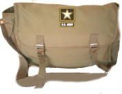 PATOUTATIS Strap Messenger Bag Canvas Bag US style-Star US ARMY-green Unisex khaki