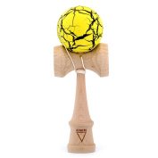 (Cracking pattern of friction that is easy to stop) Kendama KROM crack yellow x black of Denmark