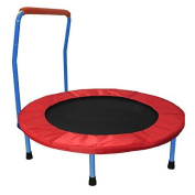 Dazzling Toys 90cm Folding Trampoline with handle - Blue