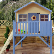 MERCIA KIDS HONEYSUCKLE WOODEN PLAYHOUSE with Tower