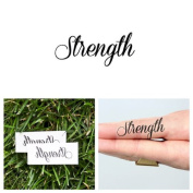 Strength Temporary Tattoo Word