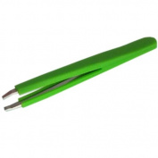Slanted Tweezers Soft Silicone Neon Day Glo - 1 Supplied