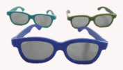 Mixed colours 3 Pairs of Childrens Passive 3D Glasses two blue and one green for Kids Universal for Passive TVs Cinema and Projectors Such as RealD Toshiba LG Panasonic and more