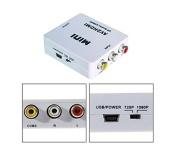 Revesun HDMI2RCACVS 3 RCA Composite Video AV to Mini HDMI Converter for TV/PC/PS3/Blue-Ray DVD