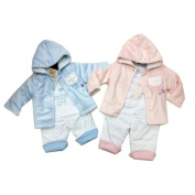 Gorgeous Padded 3 Piece Set By Pitter Patter - Blue Size 3-6 Mths