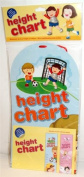 Boys Height Chart - Football Design. up to 1.5m