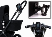DURAGADGET Durable Splash Resistant Stroller Mount With Cover For GPS, Phone Or Children's Toy - Mounts Onto Your Buggy!