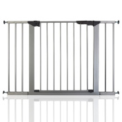 BabyDan Premier True Pressure Fit Baby Safety Stair Gate Silver All Widths